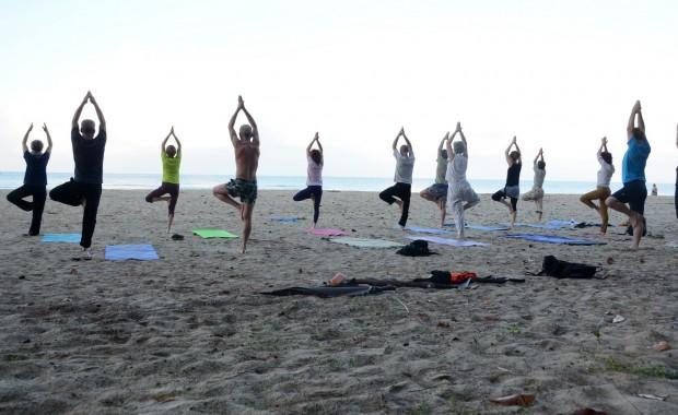 Stage Yoga Thaïlande posture Arbre lever du jour